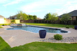 lind pool from in the yard